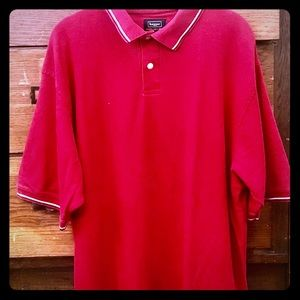 "👕HAGGAR XL Men's red Polo Shirt Tee ""Cool 18"""